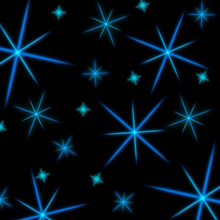 stelle blu: Glowing background with blue stars. Abstract, bright background with stars