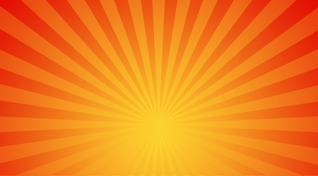 the light rays: Illustration shiny sunbeams. Bright sunbeams on yellow background. Abstract bright background