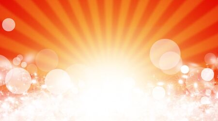 blinding: Illustration shiny sunbeams. Bright sunbeams on yellow background. Abstract bright background