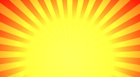 dazzling: Illustration shiny sunbeams. Bright sunbeams on yellow background. Abstract bright background
