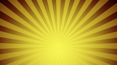 sunbeams: Illustration shiny sunbeams. Bright sunbeams on yellow background. Abstract bright background