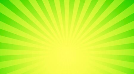 Illustration shiny sunbeams. Bright sunbeams on green background. Abstract bright background