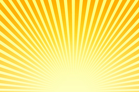sunbeam: Illustration shiny sunbeams. Bright sunbeams on yellow background. Abstract bright background