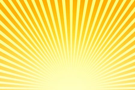 rayos de sol: Ilustración rayos de sol brillantes. Rayos de sol brillante sobre fondo amarillo. Fondo brillante abstracto