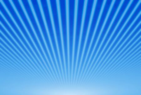 blinding: Illustration shiny sunbeams. Bright sunbeams on blue background. Abstract bright background