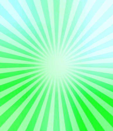 sunbeams: Illustration bright sunbeams. Bright sunbeams on a soft green background. Abstract bright background. Stock Photo