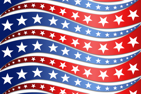 Patriotic wave background. An image of a patriotic star banner background