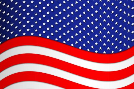 patriotic: Patriotic wave background