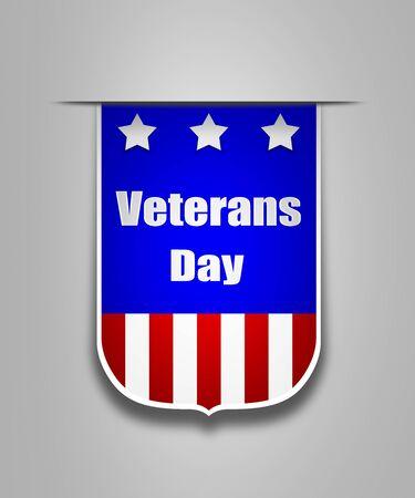 veterans: Ribbon on the american Veterans day