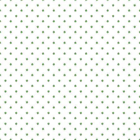 four leaf clovers: Seamless illustration clover background for St. Patricks Day. White background with four leaf clovers on St. Patricks Day