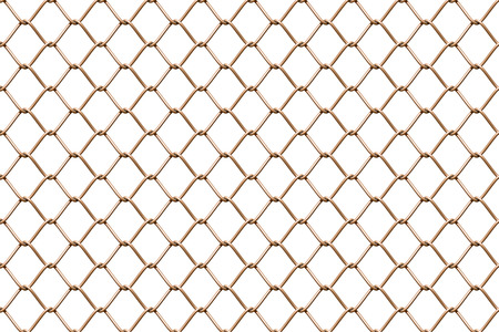 link fence: Seamless mesh netting on white background. Seamless chain link fence on white.