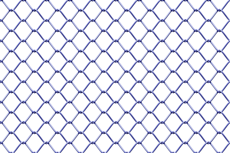 chain link fence: Seamless mesh netting on white background. Seamless chain link fence on white.