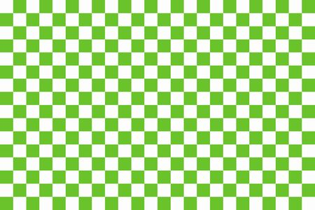 checkerboard backdrop: Green and white chessboard. Seamless pattern of green and white squares