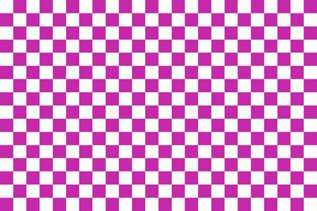 checkerboard backdrop: Purple and white chessboard. Seamless pattern of purple and white squares Stock Photo