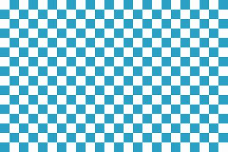 checkerboard backdrop: Blue and white chessboard. Seamless pattern of blue and white squares