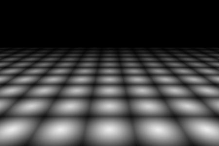 checkered background: Checkered Background In Perspective. Squares - black and white Stock Photo