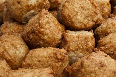 cutlets: Fried pork meatballs. Fried juicy meat cutlets.