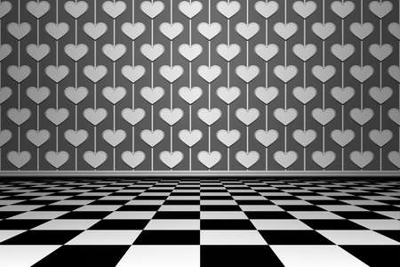 spot clean: Empty grunge interior with wall and floor. Image of a nice empty room background. Room with floor chess style.