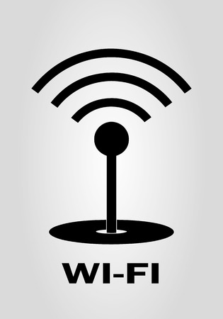 access point: WIFI - vector icon. Abstract black WI-FI sign - vector illustration.