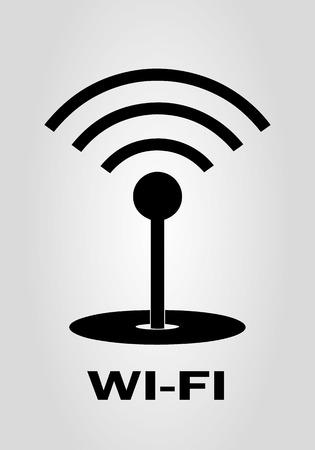 WIFI - vector icon. Abstracte zwart WI-FI teken - vector illustratie.