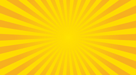 Abstract sunbeams background - vector illustration. Illustration shiny sunbeams. Bright sunbeams on yellow background. Abstract bright background - vector.
