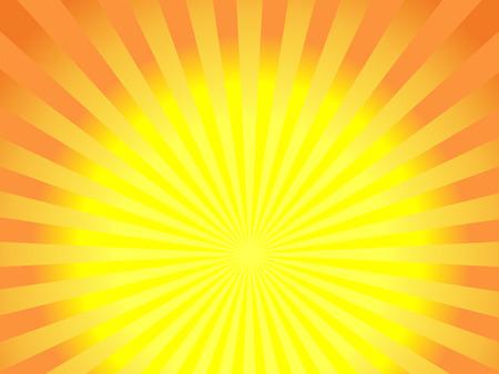 sunbeams background: Abstract sunbeams background - vector illustration. Illustration shiny sunbeams. Bright sunbeams on yellow background. Abstract bright background - vector.