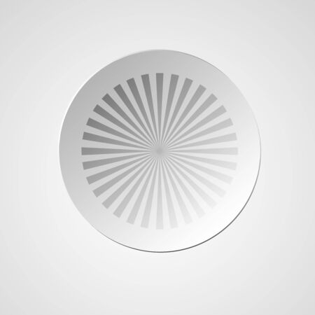 radiating: Abstract converging and radiating lines. Monochrome graphics with radiating - vector illustration. White sticker with the image of the suns rays coming from the center.