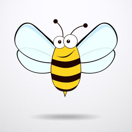 Bee op een witte achtergrond. Flat icoon van bee - vector illustratie.