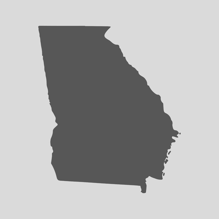 Black map of the State of Georgia - vector illustration. Simple flat map State of Georgia.