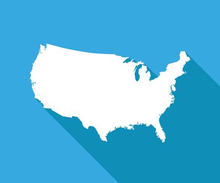 Black And White Usa Map - Us-flat-map