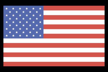 united state: Simple flag United State Of America isolated on black background. Flag of USA - vector illustration. Illustration