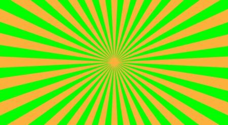 sunbeams background: Abstract sunbeams background - vector illustration. Illustration shiny sunbeams. Bright sunbeams on green background. Abstract bright background - vector.
