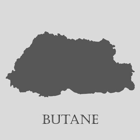 butane: Black Butane map on light grey background. Black Butane map - vector illustration. Illustration