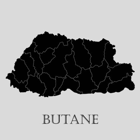 butane: Black Butane map on light grey background. Black Butane map - vector illustration. Illustration