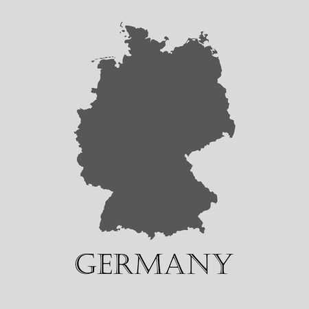 deutschland karte: Black Germany map on light grey background. Black Germany map - vector illustration. Illustration