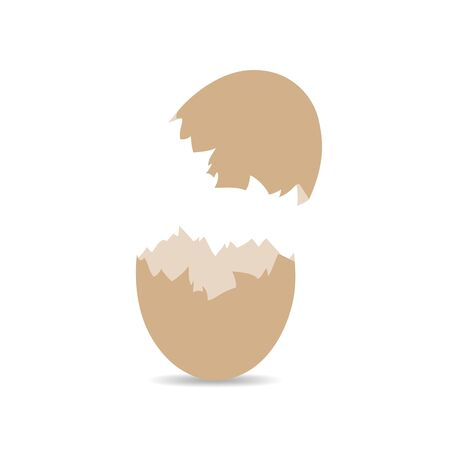 Egg shell icon isolated on white background. Eggshell sign - vector illustration.