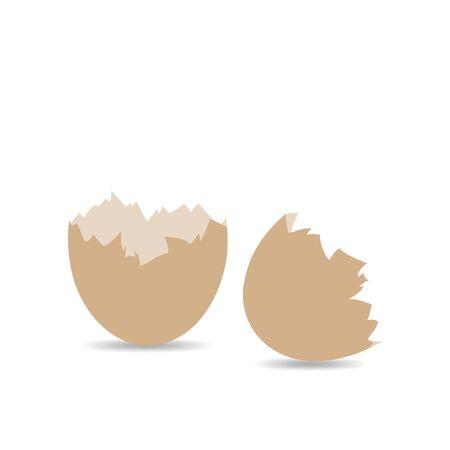 eggshell: Egg shell icon isolated on white background. Eggshell sign - vector illustration.