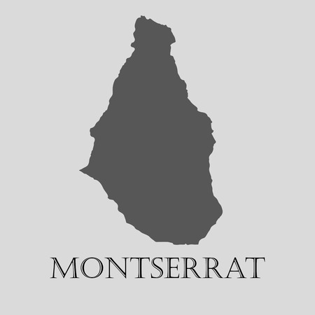 montserrat: Gray Montserrat map on light grey background. Gray Montserrat map - vector illustration.