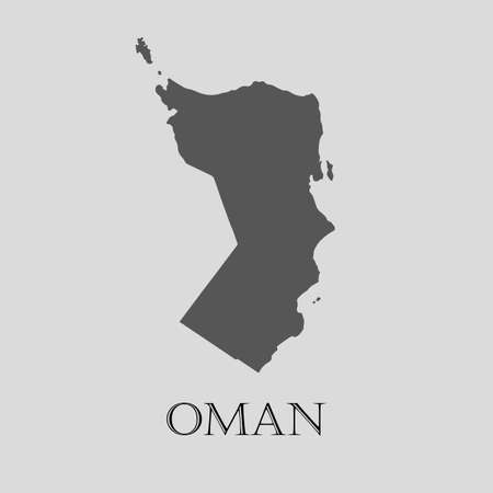 oman background: Gray Oman map on light grey background. Gray Oman map - vector illustration. Illustration