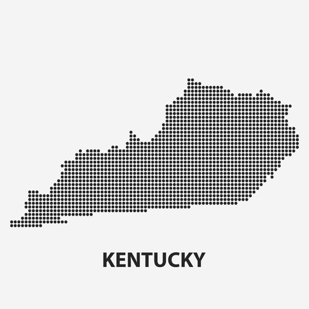 Dotted Map Of The State Kentucky The Form With Black Points - Ky map forms