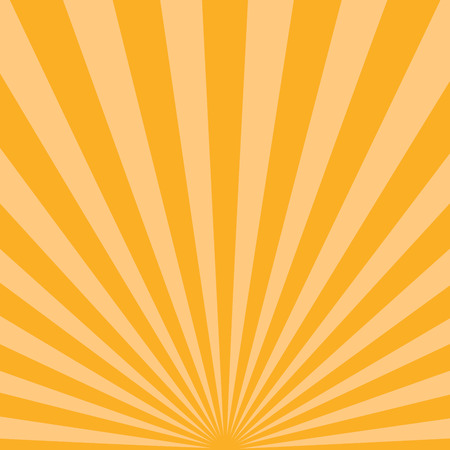 blinding: Abstract sunbeams background. Bright sunbeams on yellow background. Vector illustration. Shiny orange sunbeams. Abstract bright background