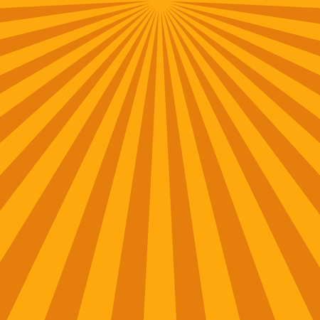 blinding: Abstract sunbeams background. Bright sunbeams on orange background. Vector illustration. Abstract bright background