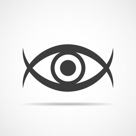 human eye: Flat human eye icon. Vector illustration. Symbol of eye isolated on light background. Illustration