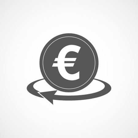 Gray money transfer icon. Vector illustration. Gray symbol of money transfer isolated. Illustration