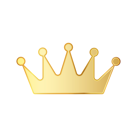 Golden crown icon. illustration. Golden crown symbol isolated on white background.