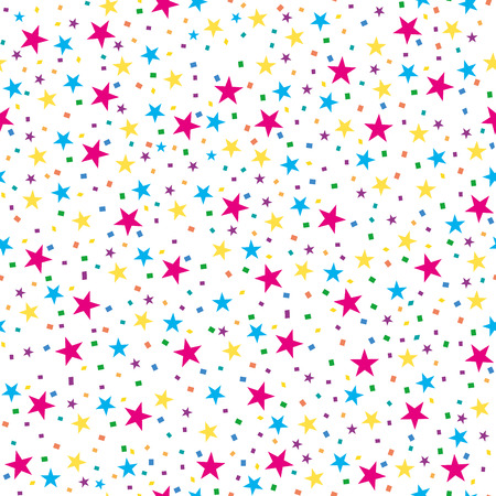 Abstract seamless pattern with colored stars. Vector illustration. Colorful stars seamless pattern.