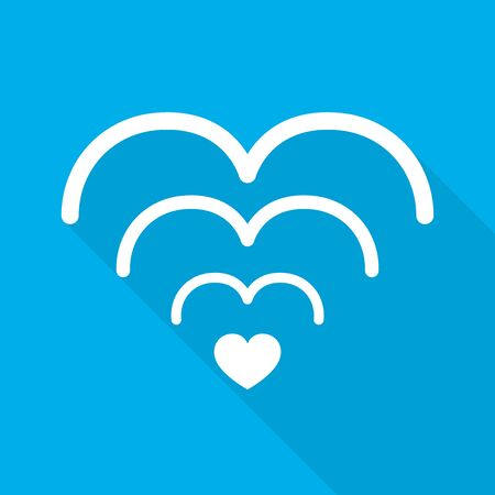 Wi-fi love symbol. Romantic Wi-Fi heart icon. Vector illustration. Wireless communication for lovers.