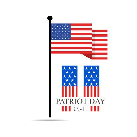 Patriot Day, September 11 - We will never forget vector illustration. Illustration