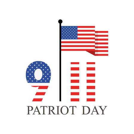 Patriot Day, september 11. We will never forget. Vector illustration.