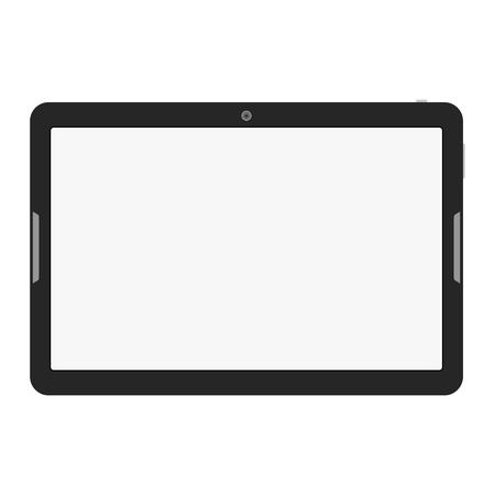 현대 터치 스크린 태블릿 컴퓨터 흰색 그림에 격리. 일러스트